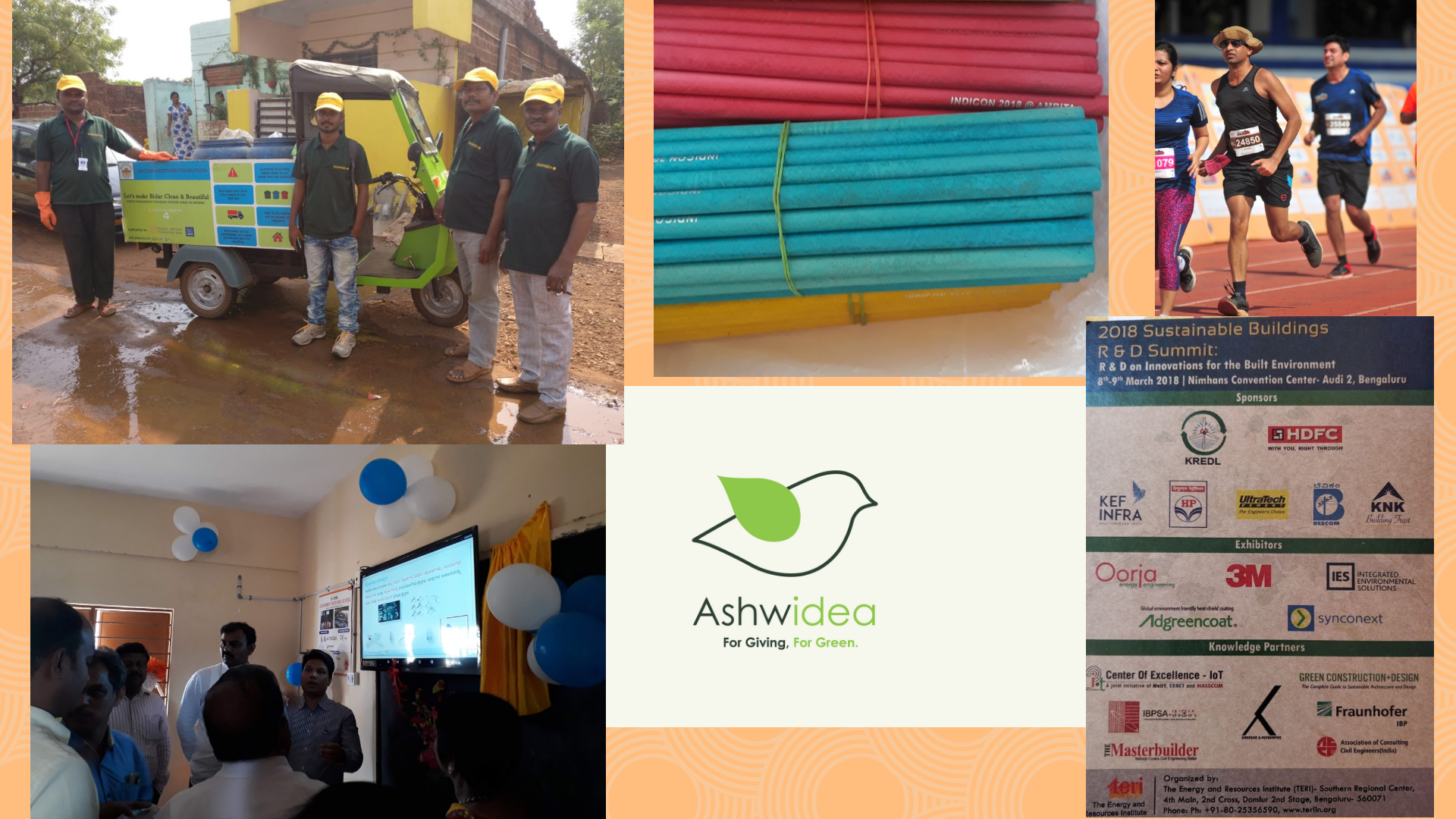2018 waste recycled education running